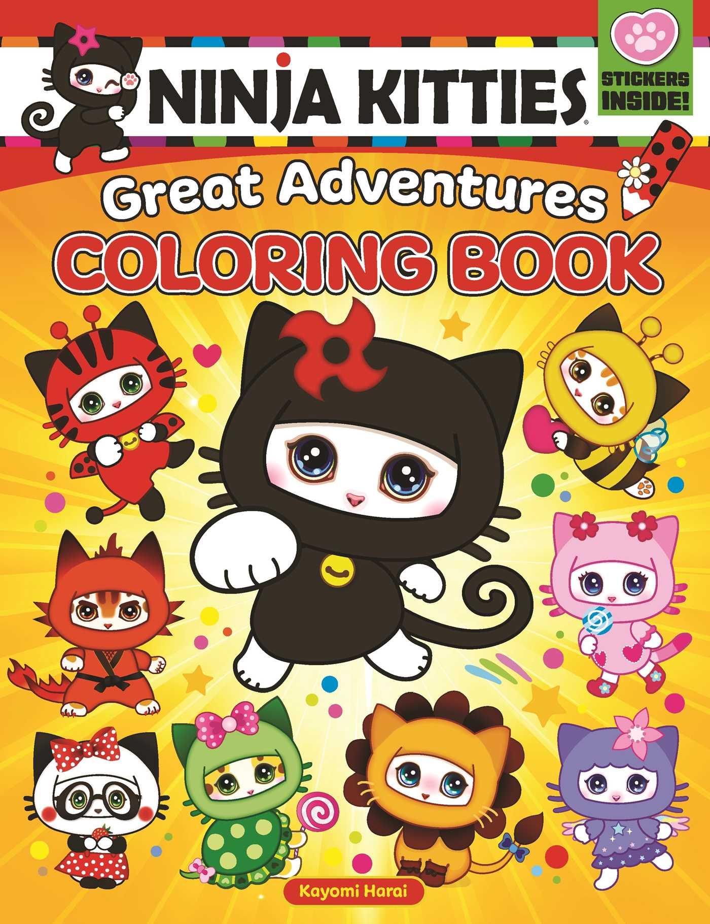 Picture of Ninja Kitties Great Adventures Coloring Book