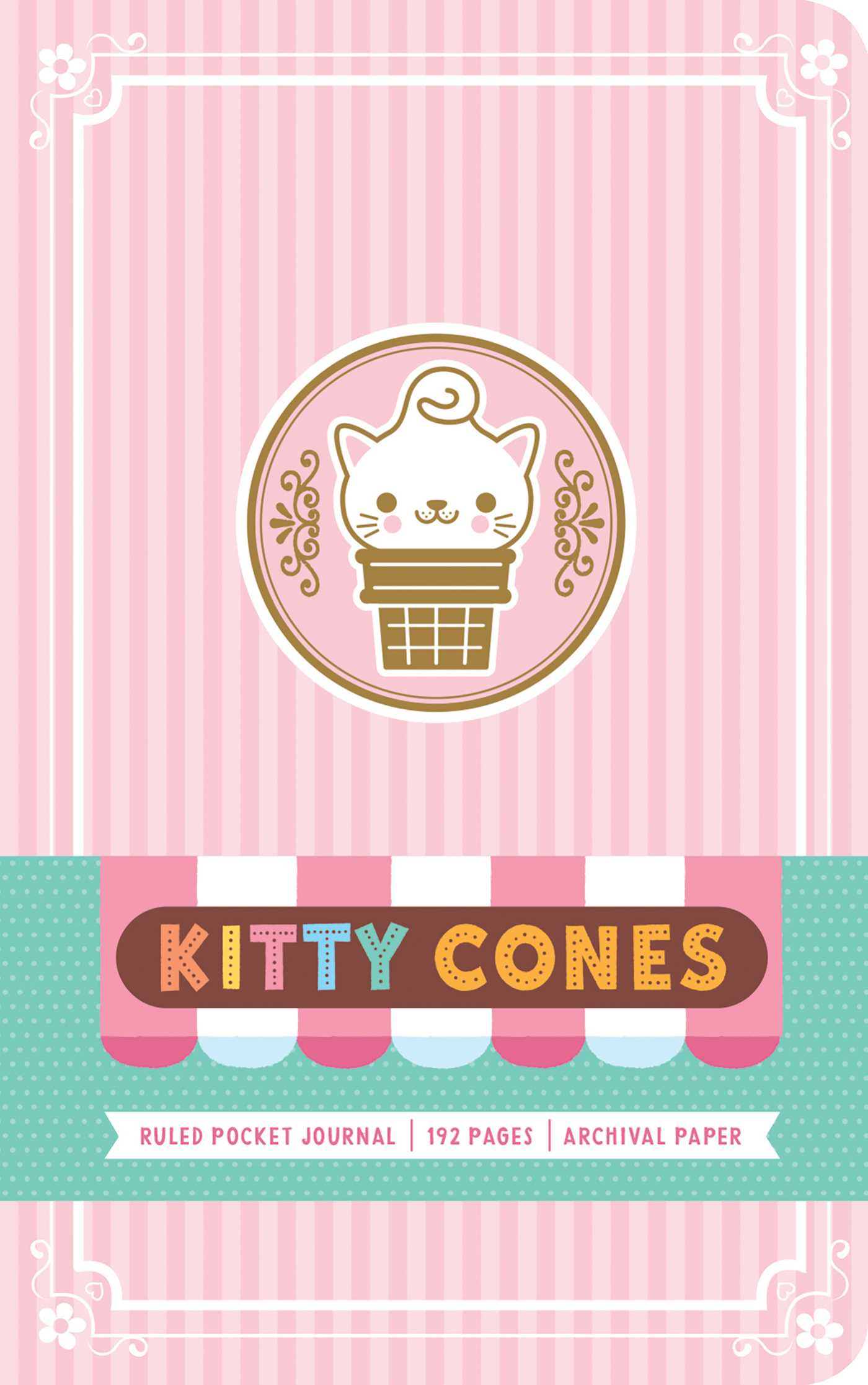 Kitty Cones Ruled Pocket Journal