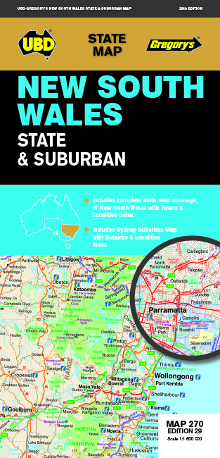 New South Wales State & Suburban Map 270 29th ed