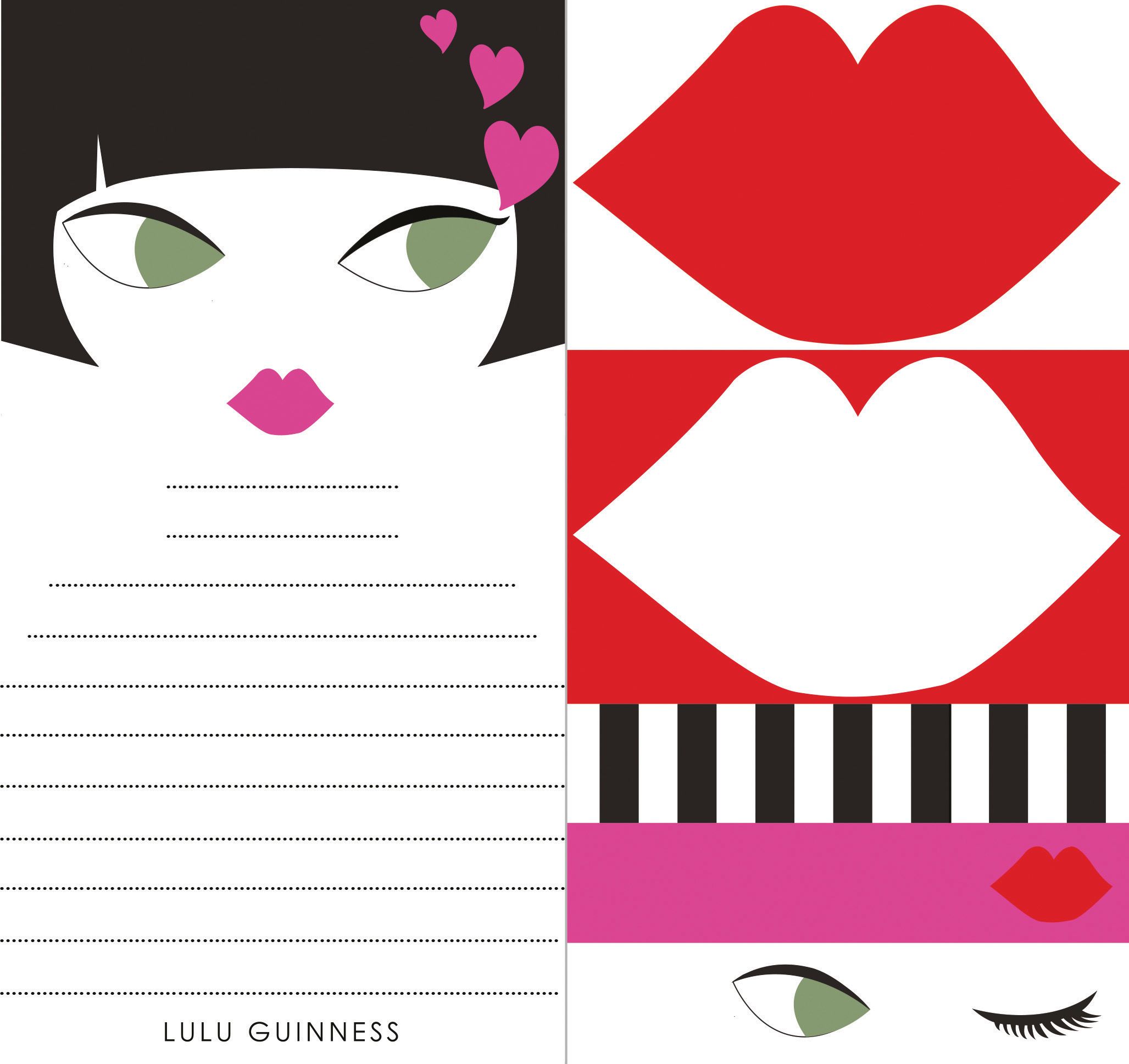 Lulu Guinness: Doll Face Memo Pad