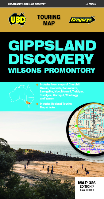 Gippsland Discovery Map 386 7th ed