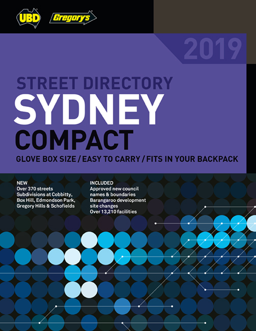 Sydney Compact Street Directory 2019 31st ed