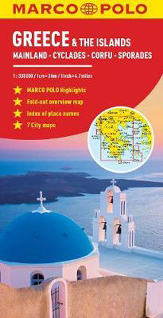 Greece and Greek Islands Marco Polo Map