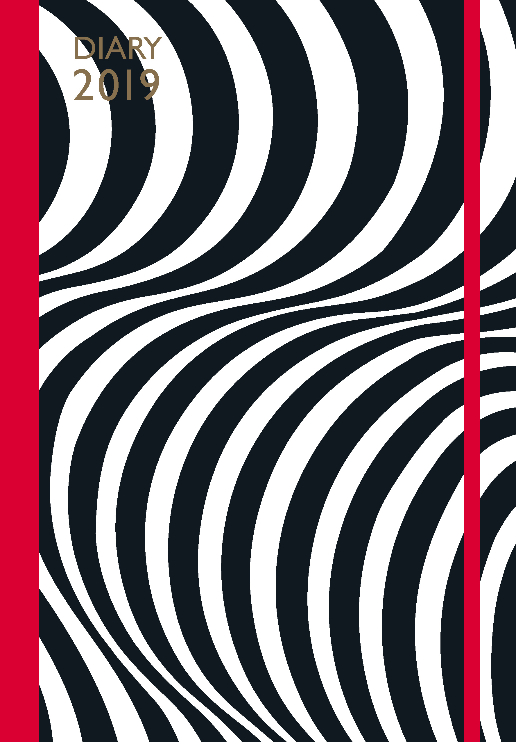 Lulu Guinness: A5 2019 Optical Stripe Diary