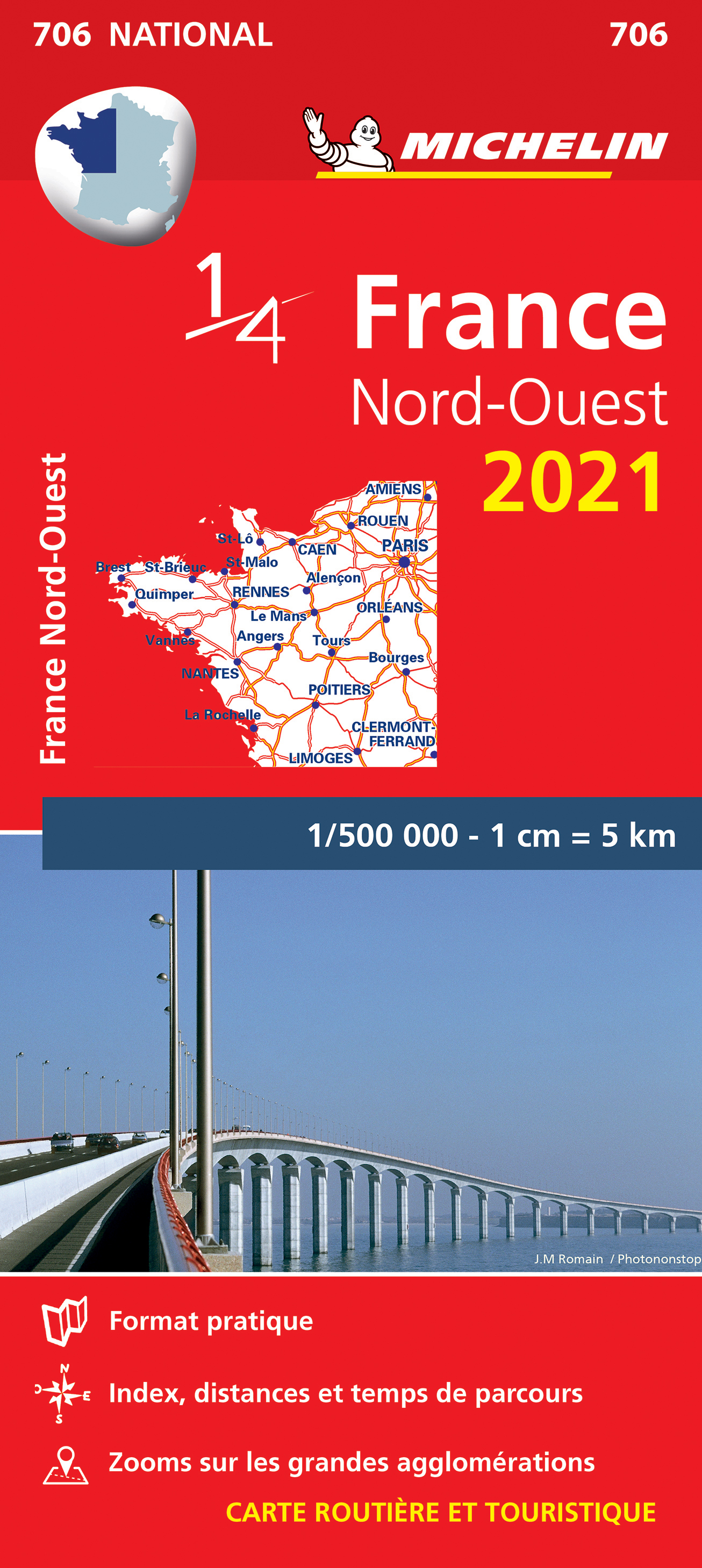 North West France Map 706 2021