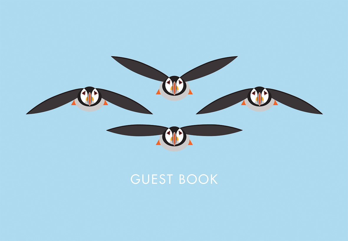 I Like Birds: Flying Puffins Guest Book