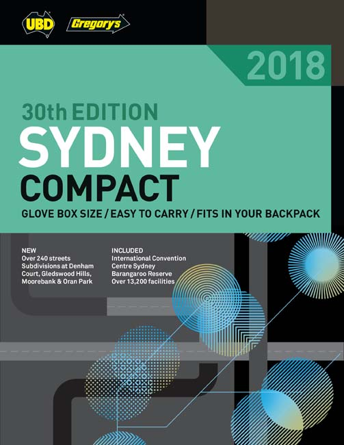 Sydney Compact Street Directory 2018 30th ed